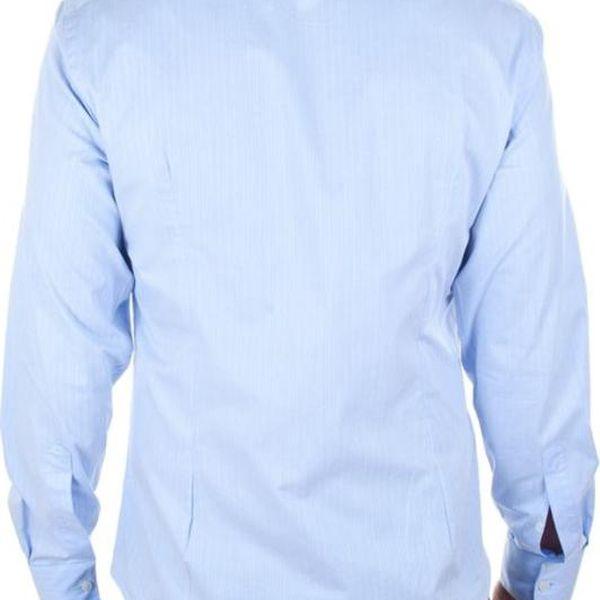 Pánská košile Calvin Klein světle modrá s proužkem