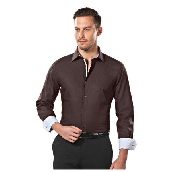 Pánská košile Vincenzo Boretti hnědá