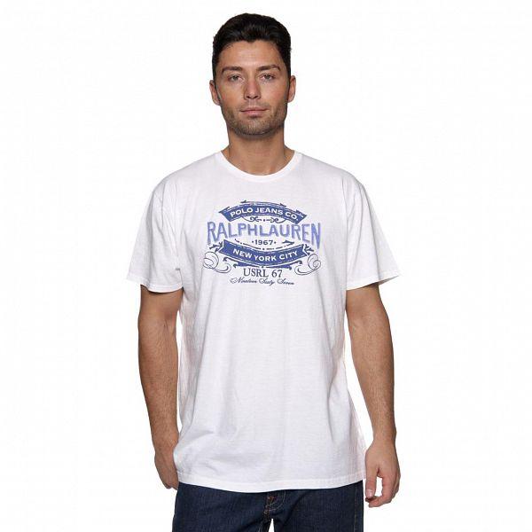 Pánské bílé tričko Ralph Lauren s potiskem