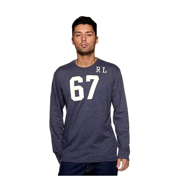 Pánské tmavě modré tričko Ralph Lauren s číslem