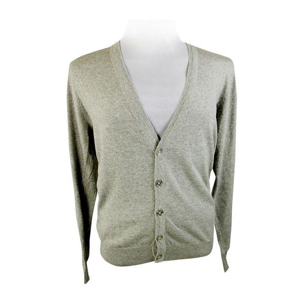 Pánský svetr Louis Estére šedý s knoflíky