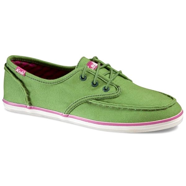 Dámské světle zelené plátěné tenisky Keds s hrubým švem