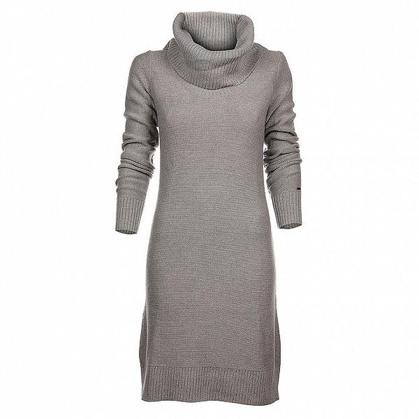 Dámské světle šedé pletené šaty Tommy Hilfiger
