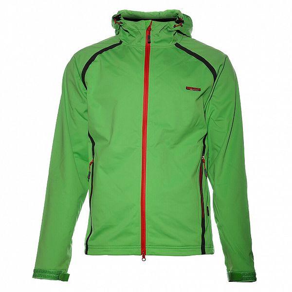 Pánská neonově zelená softshellová bunda Envy s voděodolnými zipy a lepenými švy