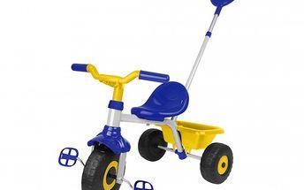 Luxusní bezpečná tříkolka EVO pro kluky. Součástí tříkolky je i kbelík