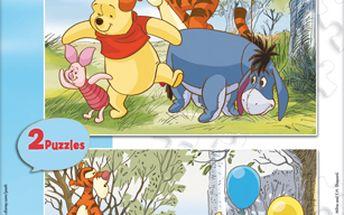 Skvělé Puzzle Medvídek Pú 2x20 dílků. Skvělá kreativní zábava pro vašeho potomka!