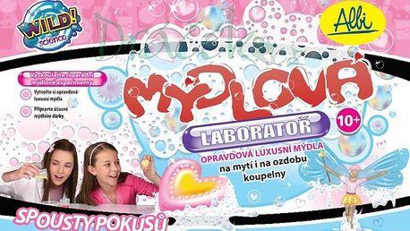 Mýdlová laboratoř. Vytvořte si vlastní jedinečná mýdla. Přidejte např. květiny, kousky ovoce nebo různé ozdoby!