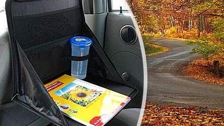 Multifunkční stolek do auta! Praktické odkládací místo na kelímky s nápoji, které se nepřeklopí ani při dravější jízdě!