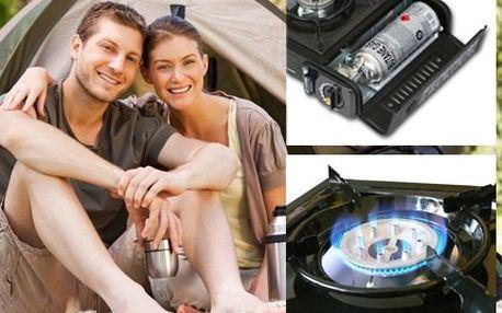 Cestovní plynový vařič! Vhodný pro kempování bez možnosti elektrického proudu - pro vodáky, zálesáky či rybáře!