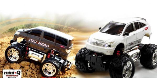 Zazávoďte si nebo si vykoušejte jízdu zručnosti s nadupanou károu! RC MODELY AUT, na výběr BIG HEAD - Toyota Harrier, Alpha, Pickup, Citroen Xsara sport, Renault Clio sport, Toyota Celica. Vánoční dárek pro malé i velké za 280 Kč!