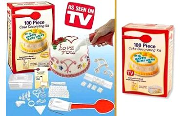 Zdobička na dorty s neuvěřitelnými 100 nástavci pro různé typy zdobení a plastovým úložným boxem za 129 Kč. Nádherně nazdobené dorty, cukroví, koláče a jiné dobroty. Staňte se profesionálem!