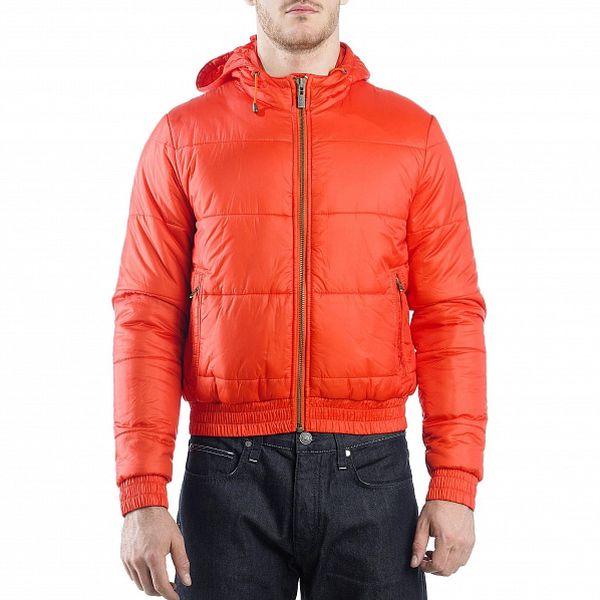 Pánská červená prošívaná bunda Calvin Klein