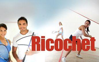 RICOCHET - moderní sport podobný squashi nyní v akci! Hodinový pronájem kurtu za pouhých 79 Kč! Přijďte si zahrát na jediný kurt tohoto druhu v Plzni se slevou 62%!