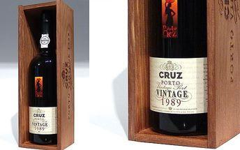 Exkluzivní portské víno Ponto Cruz, ročník 1989