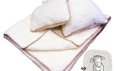 Set z ovčí vlny! Deka a 2 polštáře. Přírodní materiál s perfektními termoregulačními vlastnostmi!