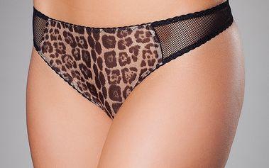 Dámská černá leopardí tanga Roberto Cavalli