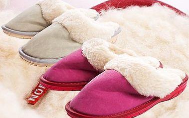 Dámské pantofle! Příjemná ovčí vlna, která v zimě zahřeje! Natáhněte si nožky u TV a dopřejte si pohodlí! Včetně poštovného!