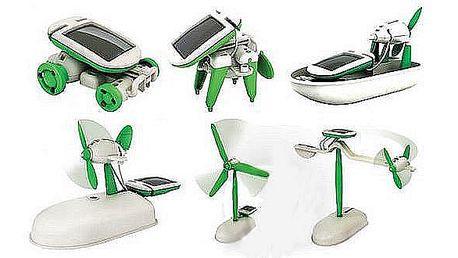 129 Kč za solární stavebnici SolarBot 6v1. Skvělý vánoční dárek! Sestavte se svými ratolestmi 6 různých hraček na solární pohon!