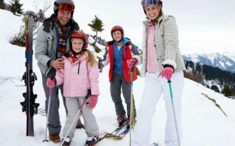 Hory až ve ČTYŘECH! 4 dny pro 1-4 osoby. Užijte si s partou přátel či rodinou lyžování v Jeseníkách!