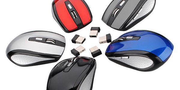 Bezdrátová optická myš - na výběr z 5 barev a poštovné ZDARMA! - 350