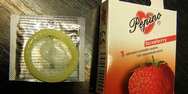 kondomy Pepino jahoda 3ks