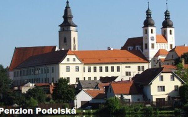 Jen 998 Kč za 3denní POBYT pro 2 osoby včetně SNÍDANÍ v Telči v penzionu Podolská.