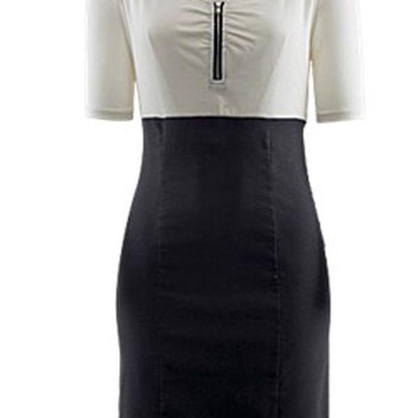 Stylové Šaty se žerzejovou vrchní částí a sukní z měkkého strečového bengalínu