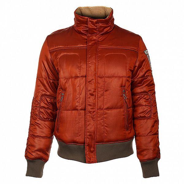 Pánská cihlově oranžová zimní bunda Timeout