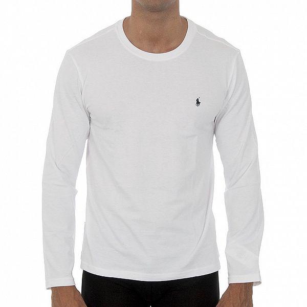 Bílé tričko Ralph Lauren s dlouhým rukávem