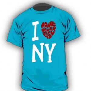 """Tričko I """"love"""" NY blue"""