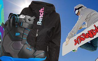 Oblečení, boty, snowboardy aj. (Quicksilver, Roxy, DC, Burton, aj.) se 40% slevou!