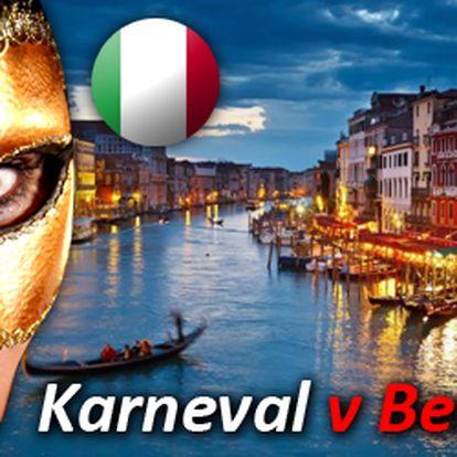 Karneval v Benátkách 2013 za nejnižší cenu na trhu! Zažijte světově proslulý karneval v Benátkách, v jednom z nejromantičtějších míst na světe. Poznejte Benátky a jejich památky v netradiční karnevalové atmosféře. Dokonalé masky, karnevalové veselí a bohatý program po celém městě!