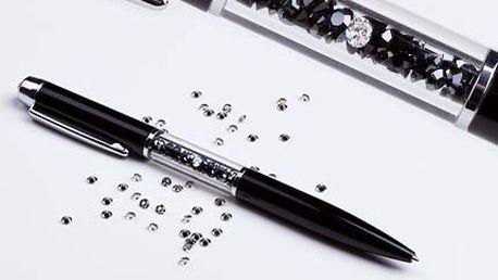 Briliantové pero! Kvalitní kožený penál s náhradní kuličkovou náplní. Včetně poštovného!