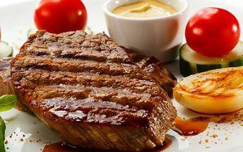 Masové hody dle výběru! 2x jihoamerický rumpsteak nebo steaková fošna - několik druhů steaků!
