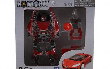 Robot Carreau 1:24. Umí se změnit v krásné sportovní auto. Se světelným efektem.