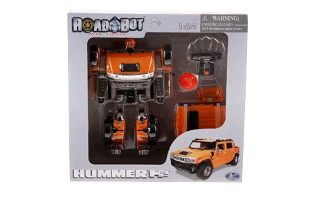 Robot Hummer 1:24. Transformer, který se změní v krásné auto Hummer.