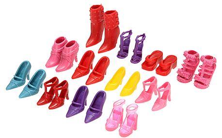 Moderní boty na podpatku určené pro panenky - 12 párů a poštovné ZDARMA! - 352