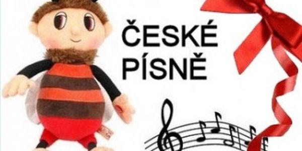 Plyšák Brumda - hraje 2 české písně. Na políčku v jetelíčku.., Tam kde v noci jasně svítí světlušky...