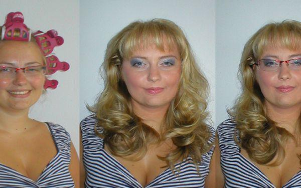 Dokonalá proměna pro vlasy po ramena, kompletní kadeřnický set, líčení a fotografování jen za 845,-