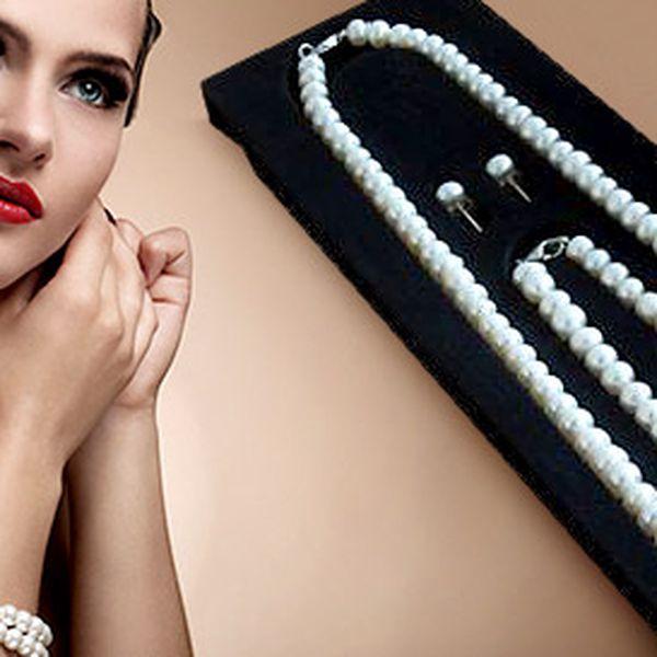 Sada šperků z pravých perel