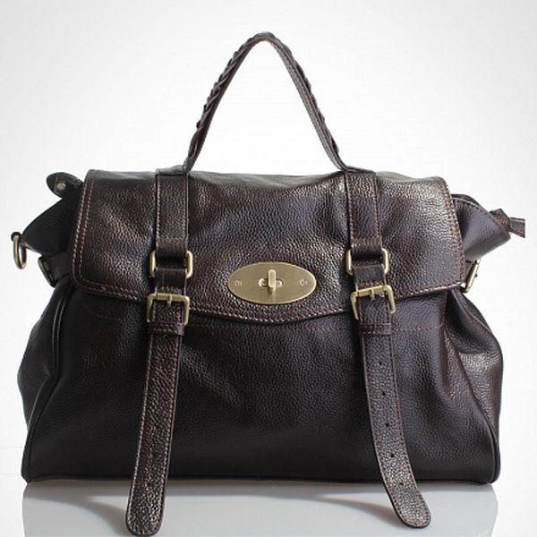 Dámská tmavě hnědá kabelka Belle & Bloom s ozdobnými pásky
