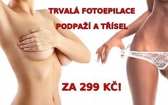 FOTOEPILACE obou podpáží a třísel (Bikini-line) za neuvěřitelnou cenu!! Trvalá epilace chloupků se skvělými výsledky v salonu Style na Praze-5!!!