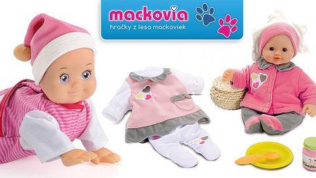 Lezúca a blabotajúca bábika Minikiss alebo roztomilá bábika Baby Nurse s bohatým príslušenstvom.