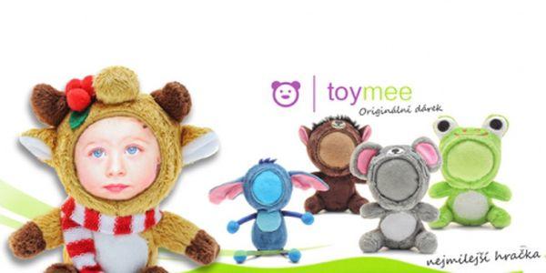 "TOYMEE je roztomilá plyšová hračka, originální fotorámeček a vtipný dárek v jednom! Vaše foto vytvarujeme do 3D a vyrobíme Vašeho ""toymíka""! Sleva 50%!"