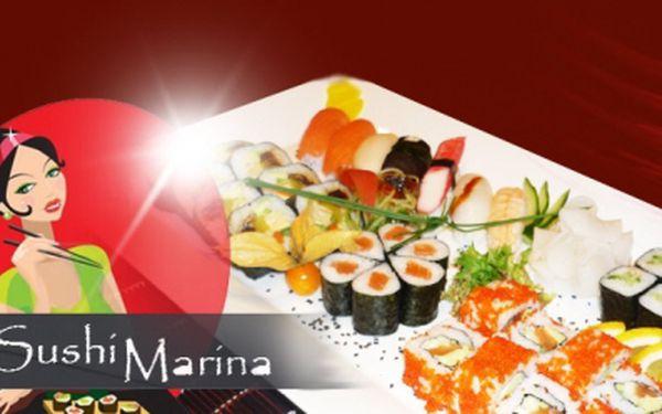 Velký degustační SUSHI SET o 36 kouscích v moderní restauraci Sushi Marina! Tradiční japonské sushi za jedinečnou cenu 499 Kč! Darujte kulinářský zážitek! Sleva 59%!