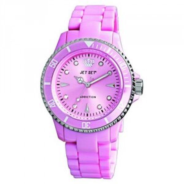 Jet Set Addiction. Kvalitní hodinky s minerálním sklíčkem.