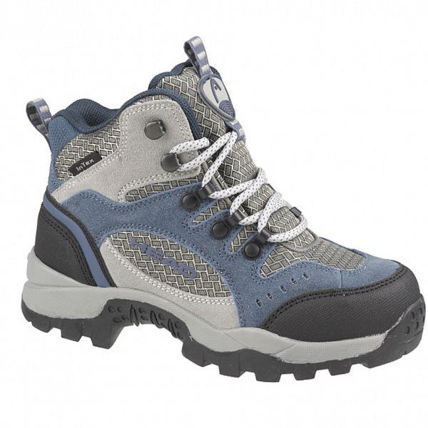 Šedo-modrá vysoká trekingová obuv Head Junior