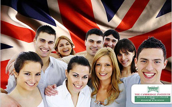 Mluvte plynně anglicky! Intenzivní kurz ve známém The Cambridge Institutu.