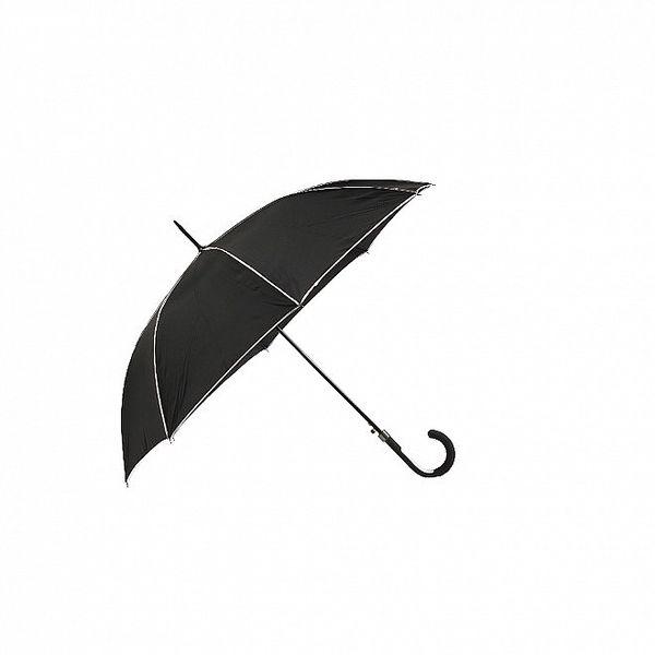 Dámský holový deštník Ferré Milano v černé barvě