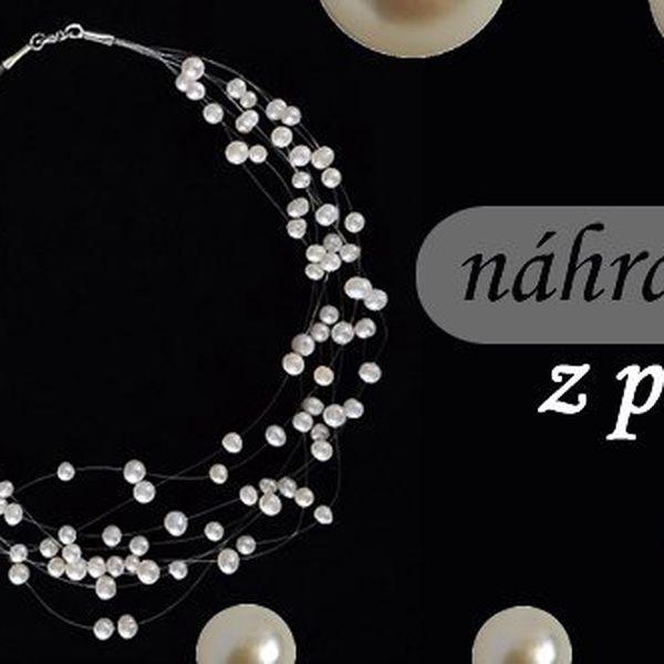 Náhrdelník z pravých říčních perel. Každou ženu i dívku tento jemný doplněk jistě potěší.